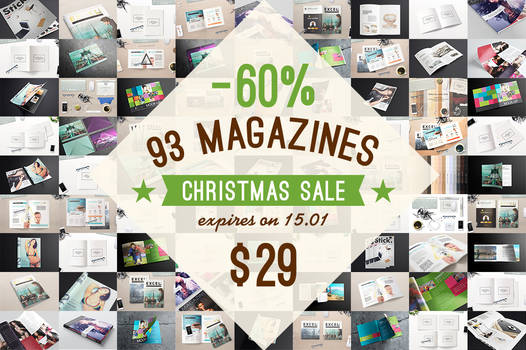 Magazine Mock-ups Pack Christmas Sale