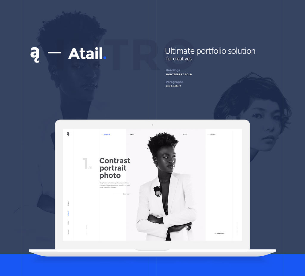 Atail Unique Portfolio Template by Itembridge