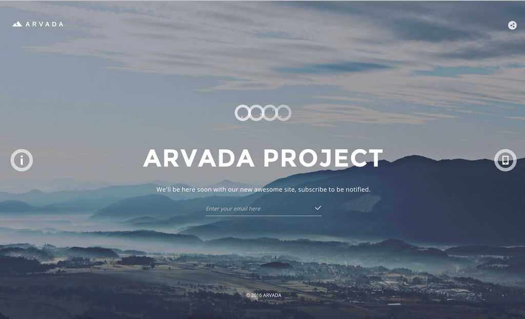 Arvada Creative Coming Soon Template by Itembridge