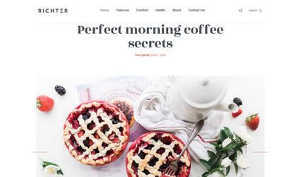 Richter Creative WordPress Blog Theme by Itembridge