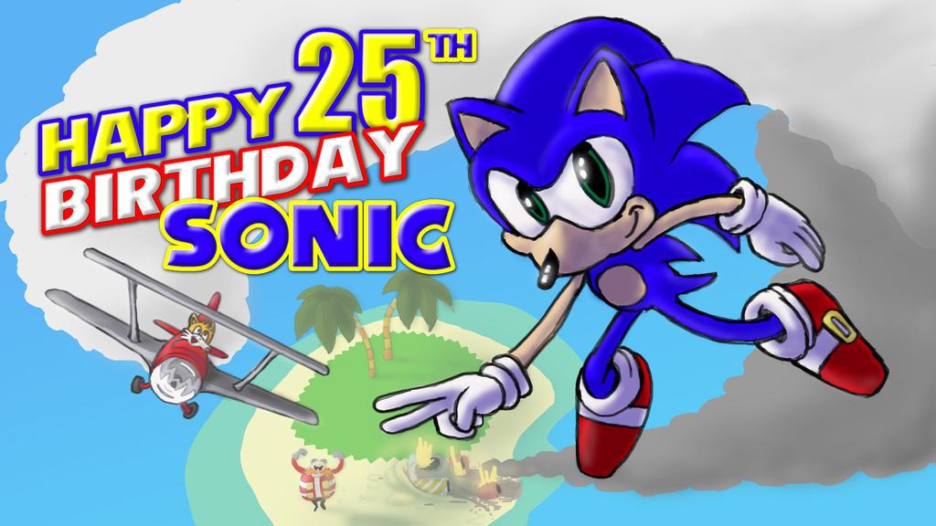 Happy 25th birthday Sonic! by peda7