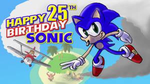 Happy 25th birthday Sonic!
