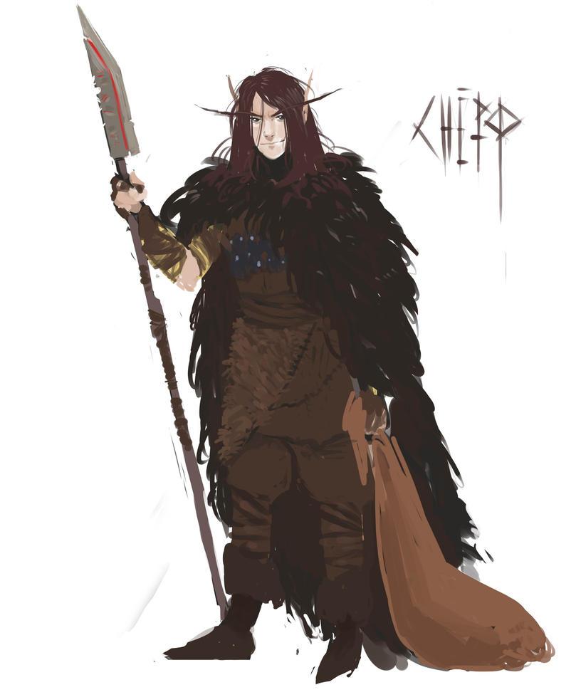 Chaotic elf-druid by ulmuri