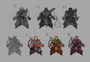Alchemist sketches and color variations