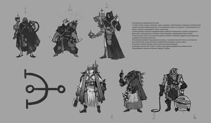 Alchemist initial sketches