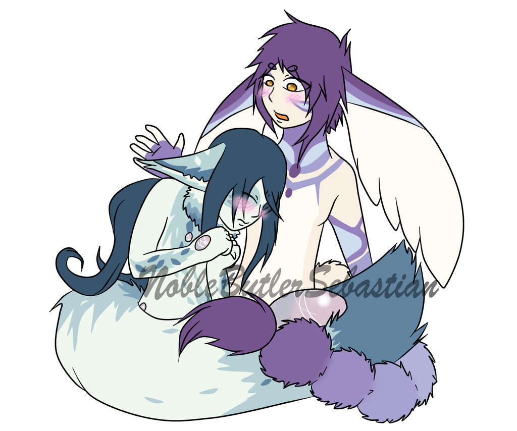 Vincent and Iris Snuggle by NobleTanu