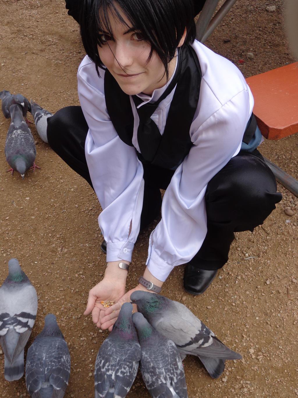 Awkward Pigeon Feeding #2 by NobleTanu