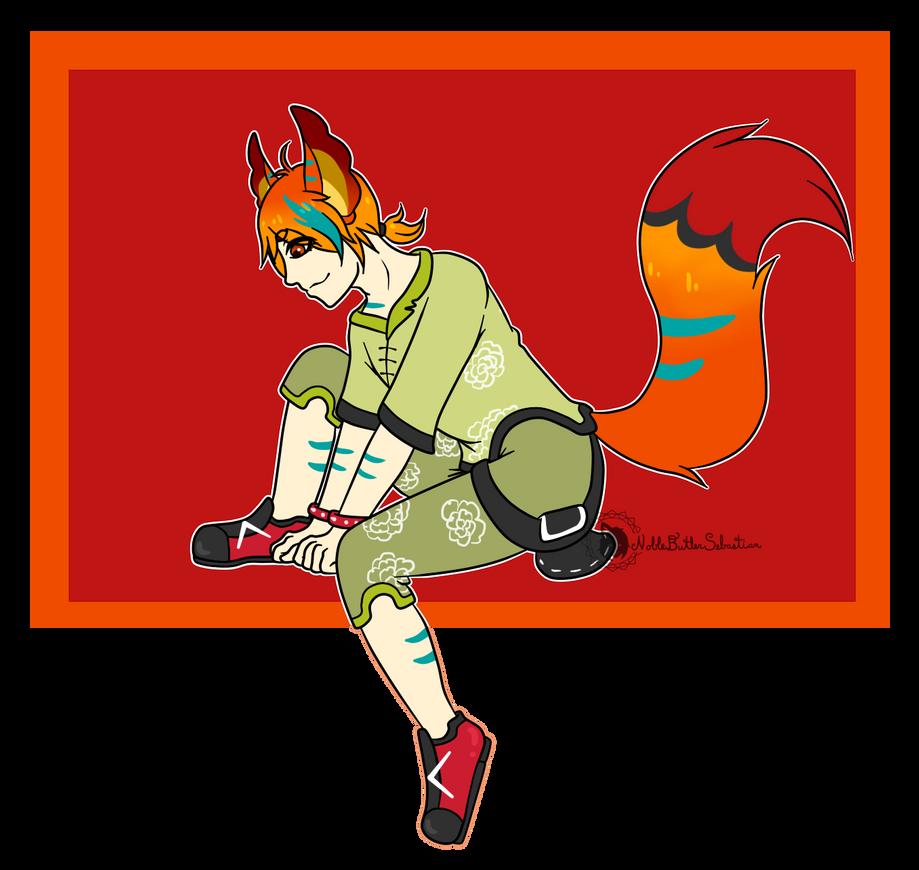 [AT] FlamingPhoenixFox by NobleTanu