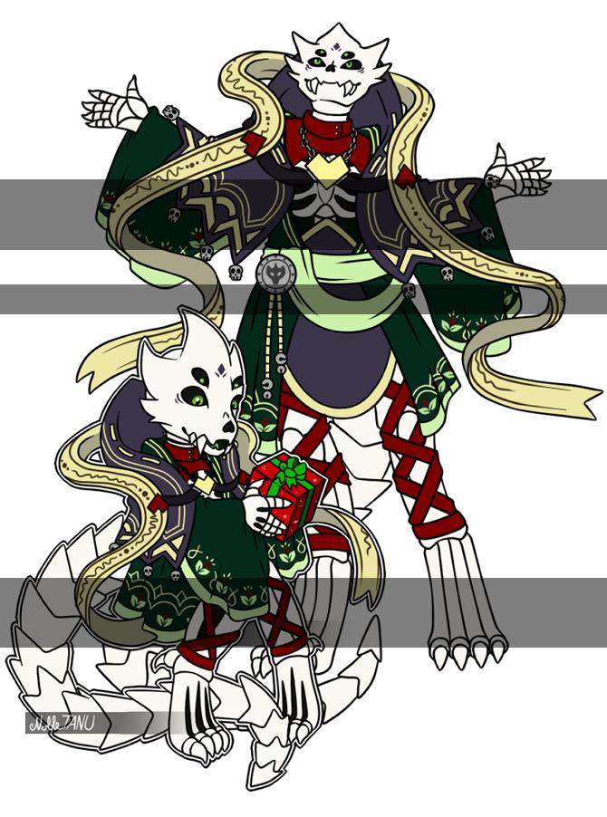 [C] Chibi + Full Body for Holiday Spirit Adopt by NobleTanu