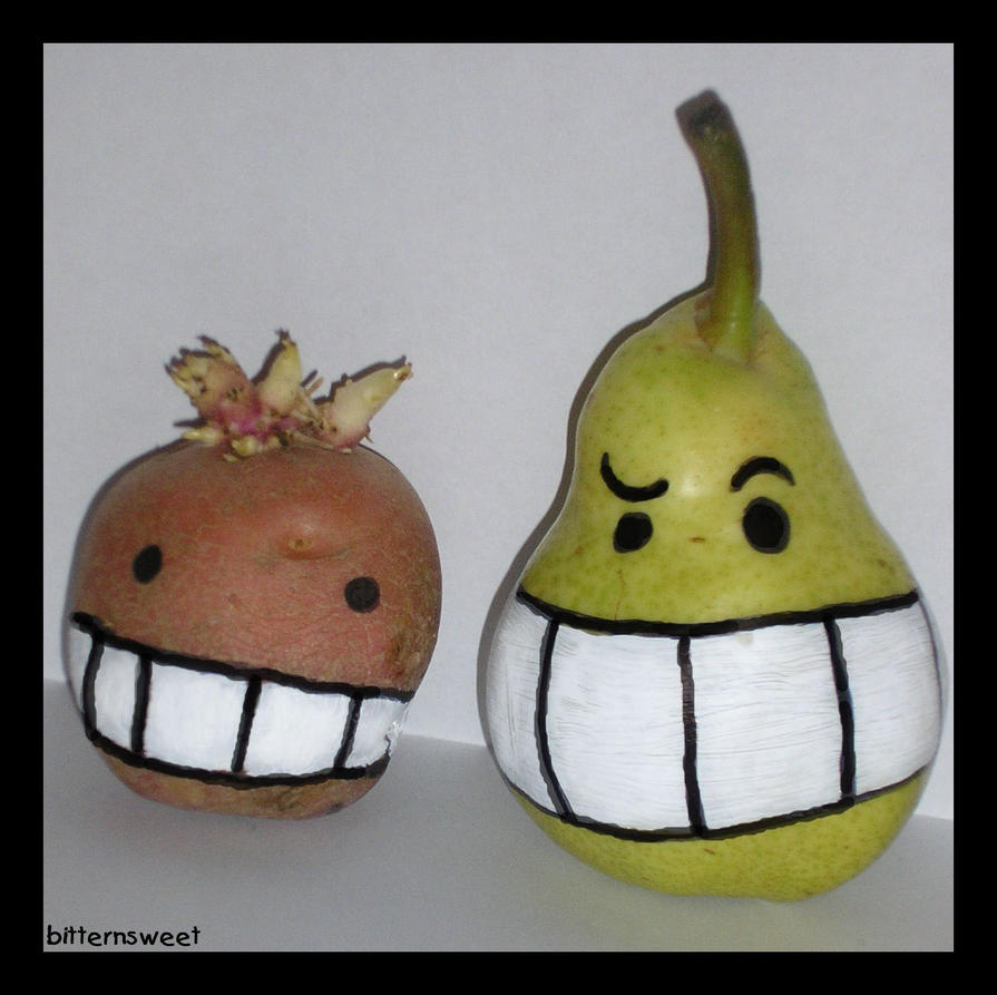 suggestive pear and his friend by bitternsweet