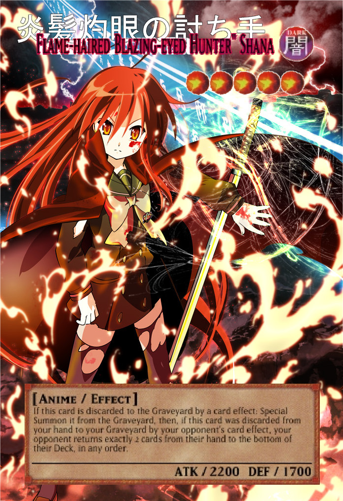Yugioh Orica Shana Monster Card By Animereviewguy On