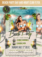 Beach Party Flyer- Day Club Template by AddictedToLucid