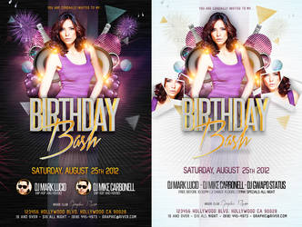 Birthday Bash Party Flyer PSD Template by AddictedToLucid