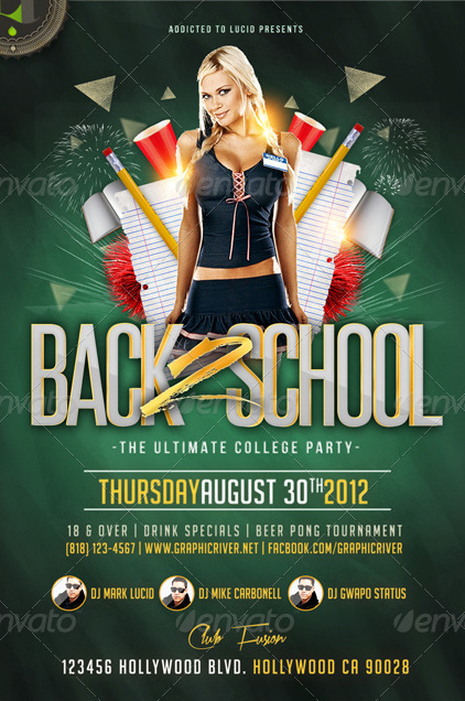 Back  School  College Night Flyer Psd Template By Addictedtolucid
