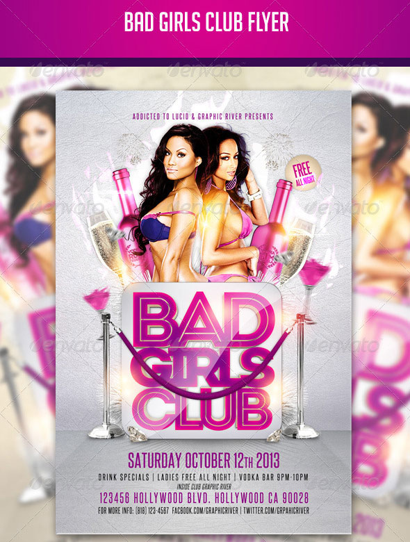 DeviantArt: More Like Bad Girls Club Psd Flyer Template by ...