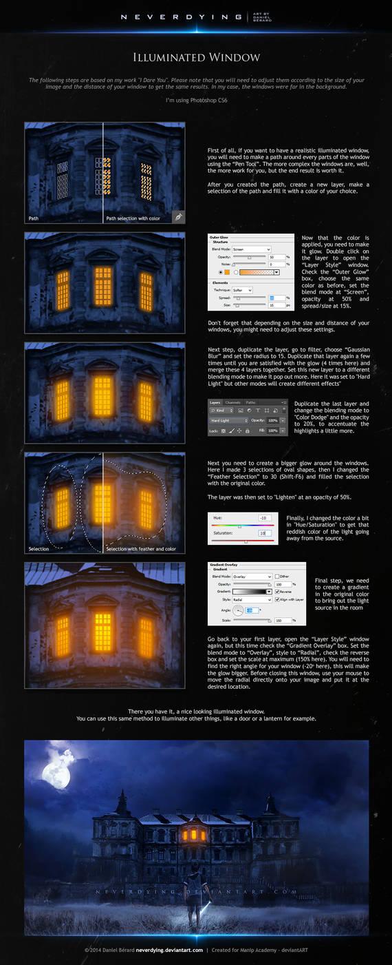 Tutorial - Illuminated Window by neverdying