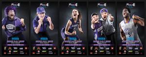 Final 4 basketball tournament banners