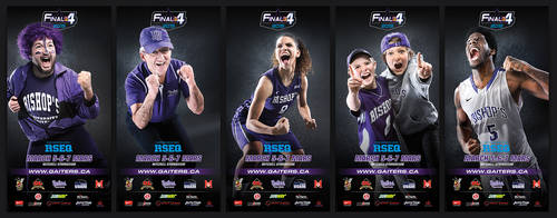 Final 4 basketball tournament banners
