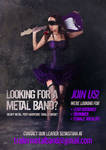 Metal band flyer