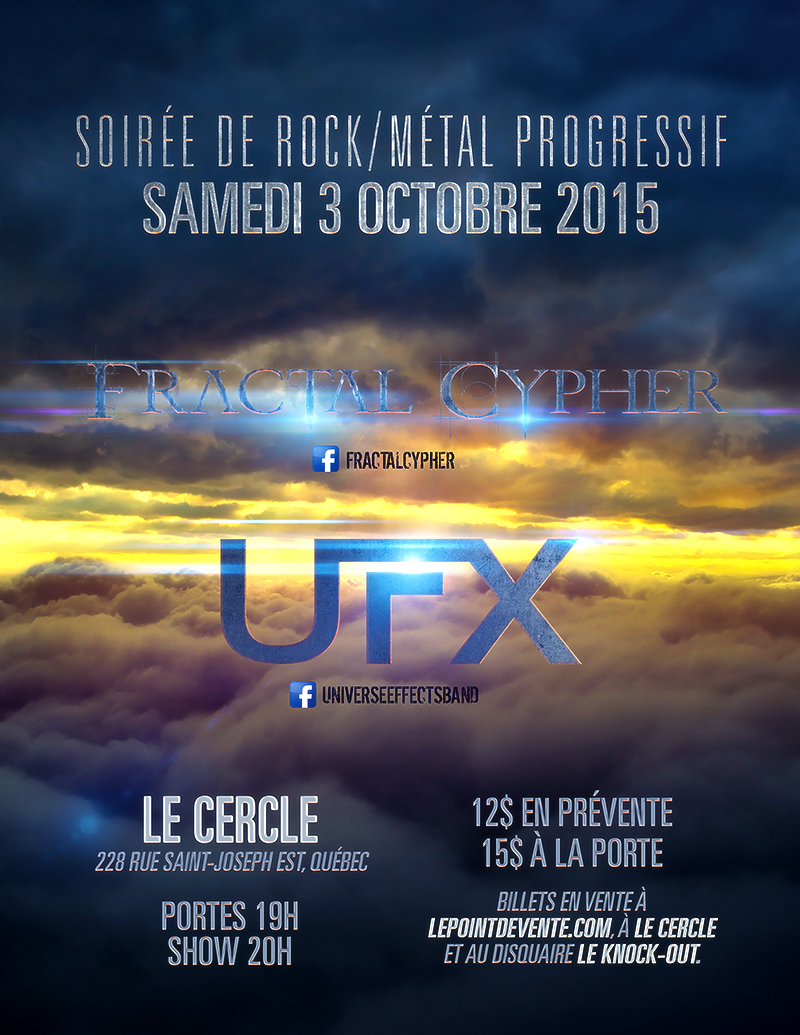 Flyer - Fractal Cypher and UFX