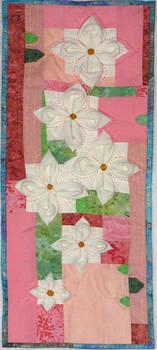 Gardenias mini-quilt