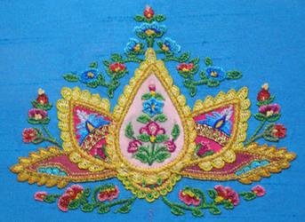 Paisley Lotus Tambour Embroidery