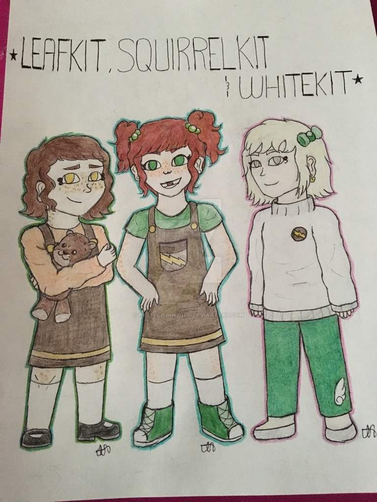 Human Squirrelflight, Leafpool, and Whitewing by PastelBunny0133