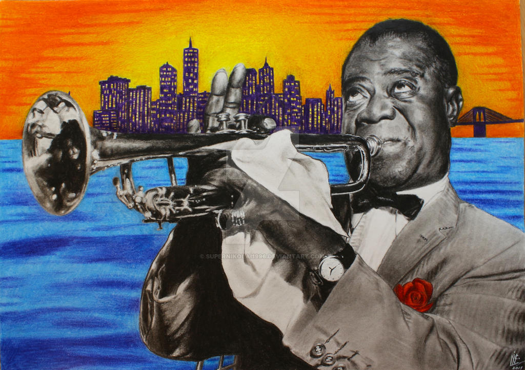 Louis Armstrong Portrait by SuperNikolai1996