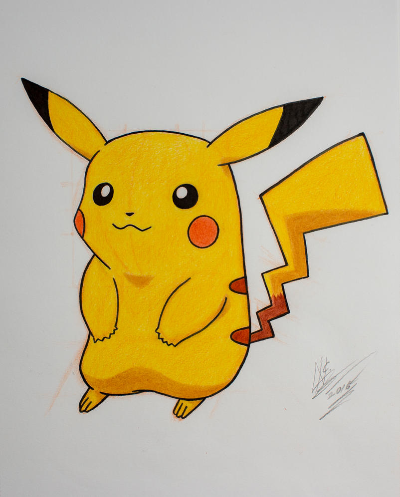 Pikachu drawing by SuperNikolai1996