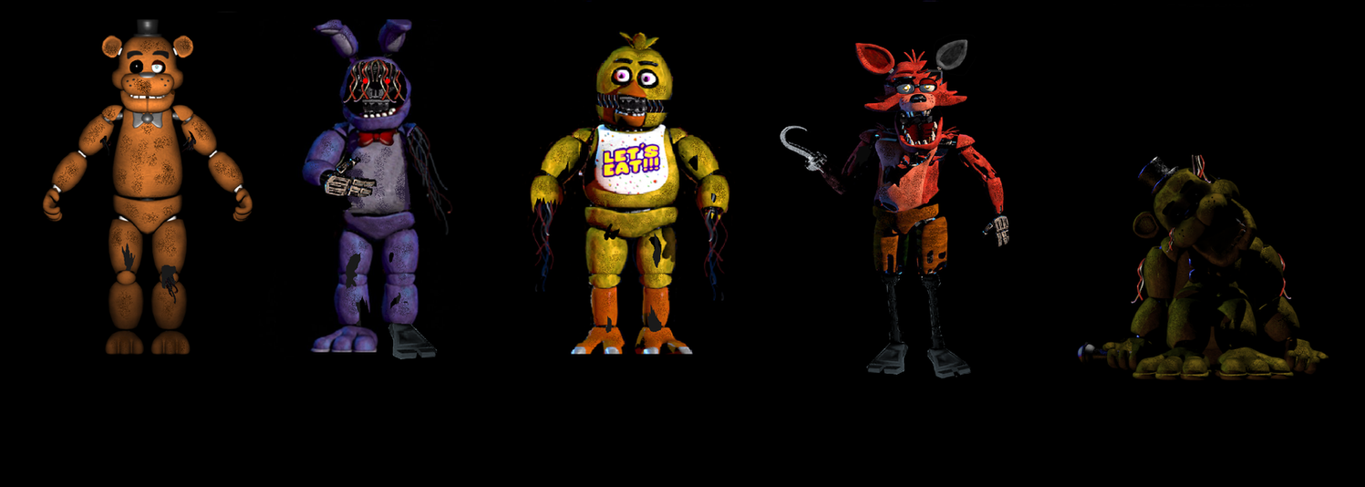 Fnaf 1 Withered Animatronics Real Like By Painter85 On