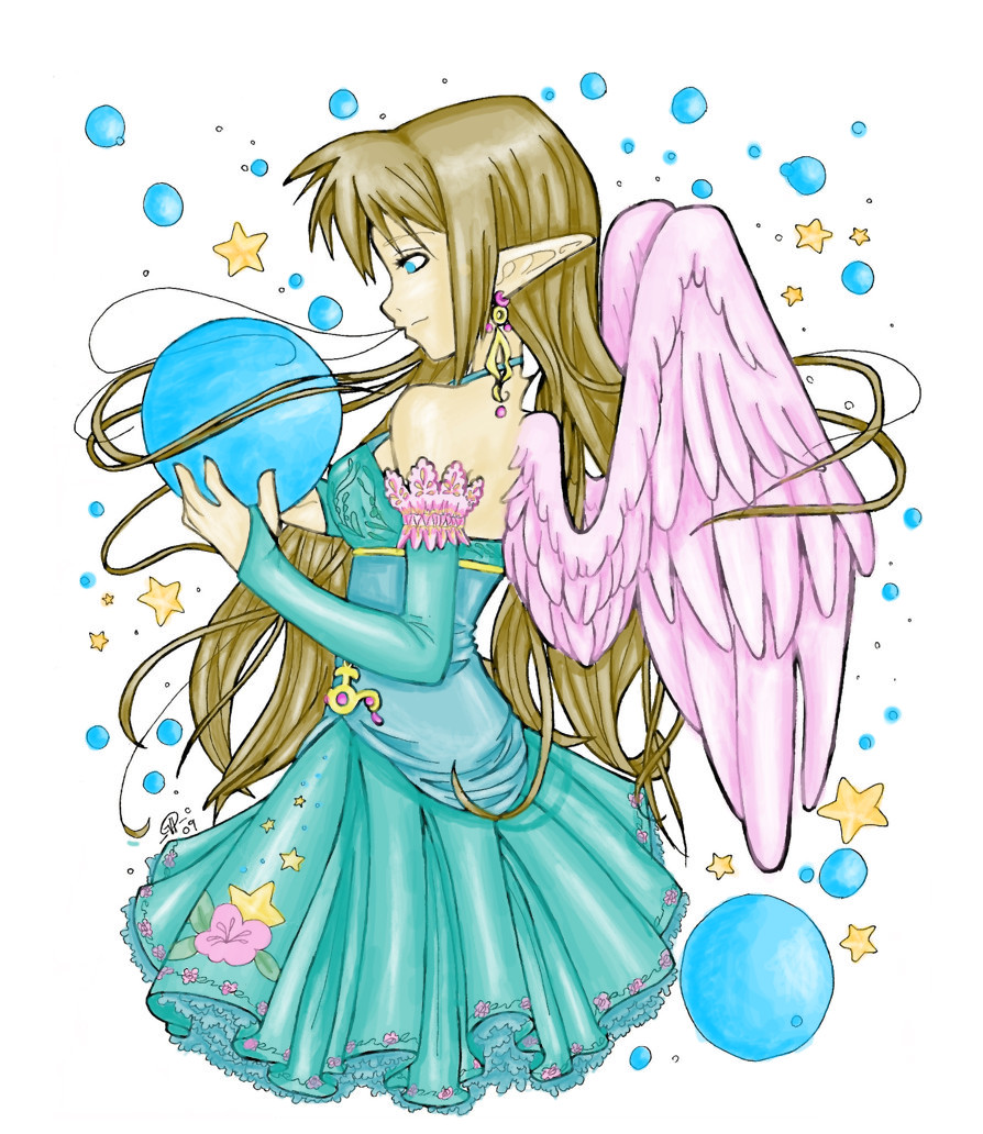 Elf hp magic story for Anime angel coloring pages