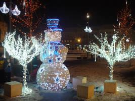 Snowman in cluj napoca by Dj-Steaua