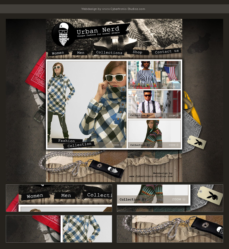 "Webdesign - ""Urban Fashion"" by CybertronicStudios"
