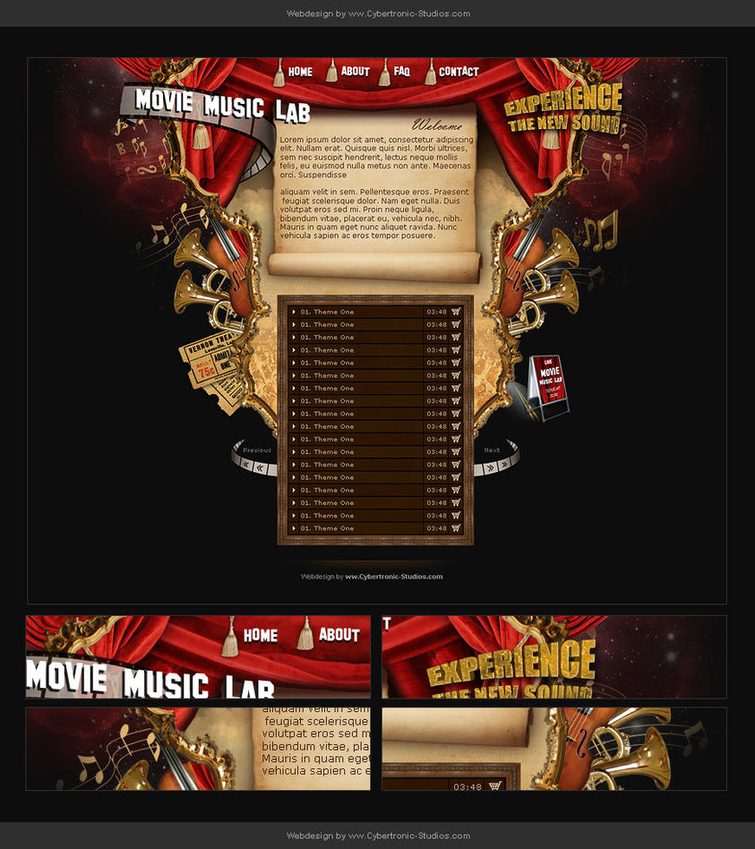 Webdesign - Movie Music Lab by CybertronicStudios