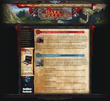Webdesign - 'Dark Warriors'