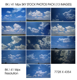 13 Sky Stock Photos 8k / 41 Mpx Resolution Pack