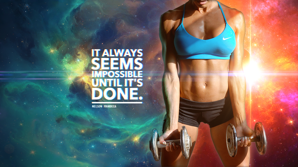 Motivational Fitness Wallpaper by CybertronicStudios on