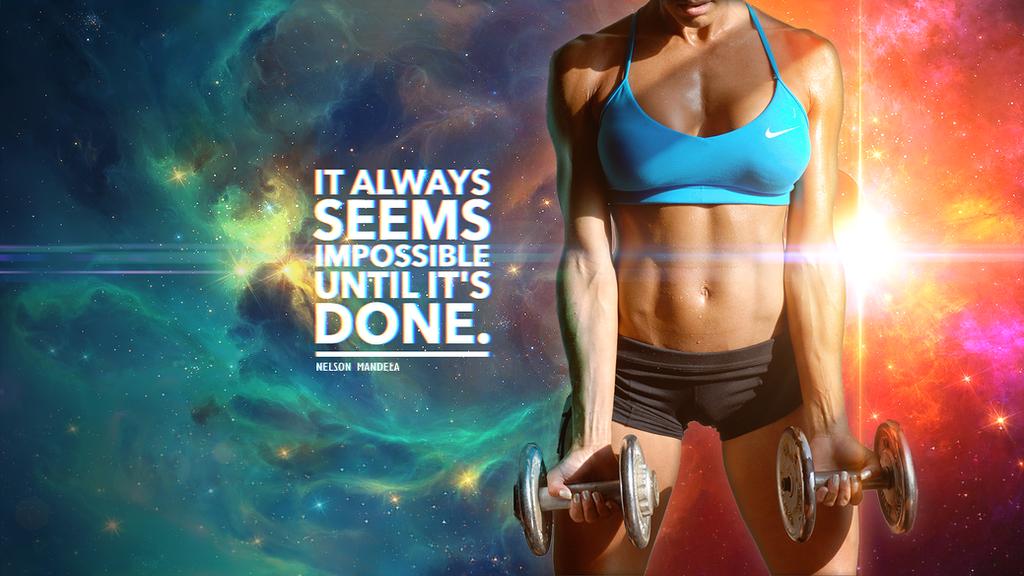 Motivational Fitness Wallpaper by CybertronicStudios