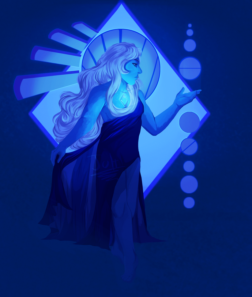 i! hate! painting! hair! I wanted to redo the drawing i did of blue diamond:joitiks.deviantart.com/art/Dia… since her design was revealed and whatnot  and this show got me shook as of r...