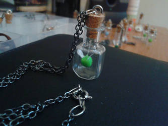 Faerie in a Bottle Necklace - Green