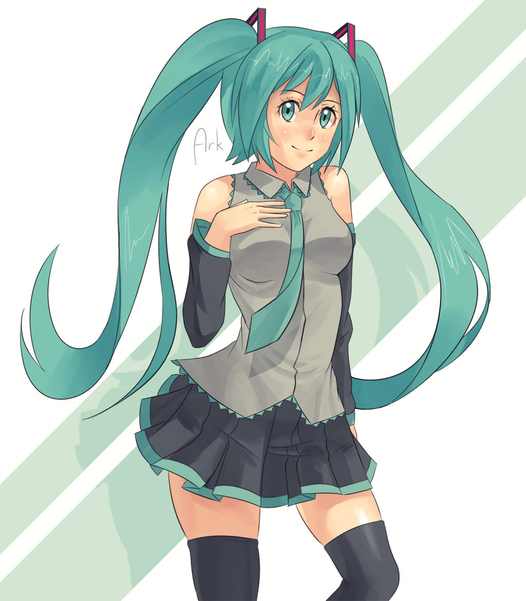 miku [RE-UPLOAD] by arkazain