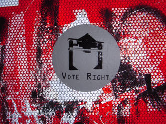 Stop Sign - Vote Right