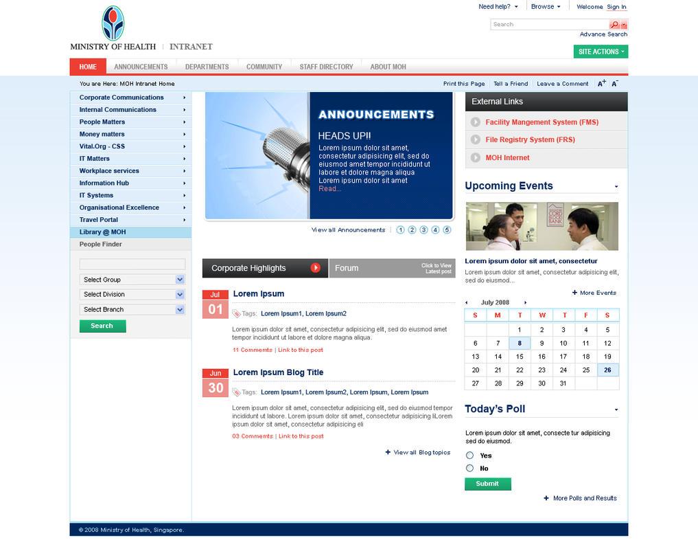 Sharepoint Intranet Portal By Scorpionsera On Deviantart