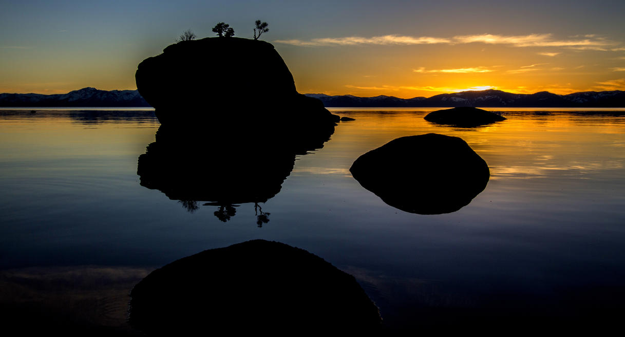 Lake Tahoe's Bonsai Rock by sellsworth