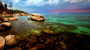 Tahoe's East Shore on a Colorful August Evening