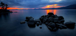 East Shore Tahoe on a Calm Summer Evening by sellsworth