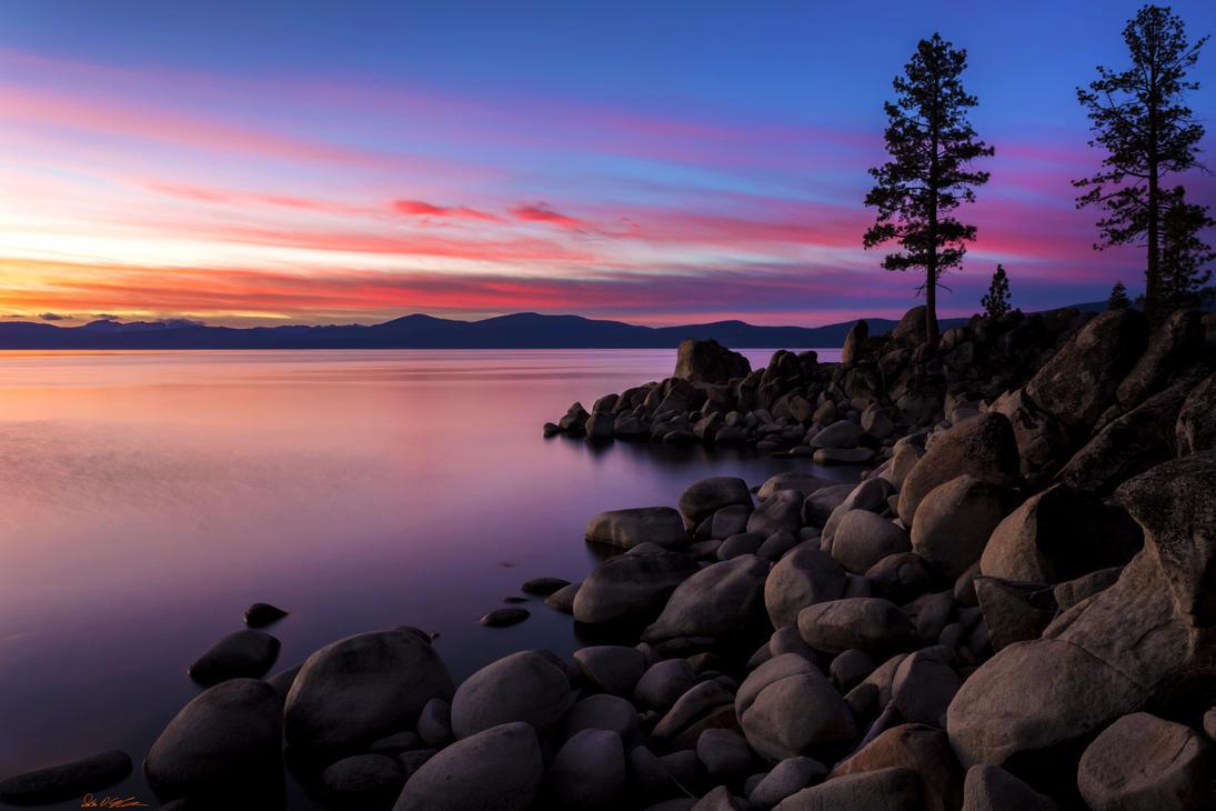 East Shore Tahoe November Evening by sellsworth