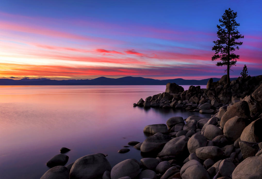 Tahoe Evening by sellsworth