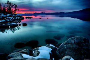 East Shore Tahoe December Evening by sellsworth