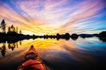Kayaking into a Sunset at Lake Tahoe